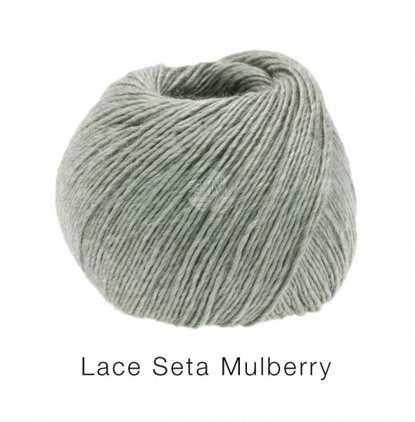 Lana Grossa Lace Seta Mulberry 013 Graugrün 50g
