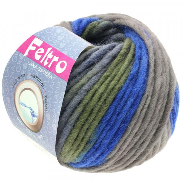 Lana Grossa FELTRO PRINT 0382 hellgrau/Khaki/Graublau/Tinte 50g