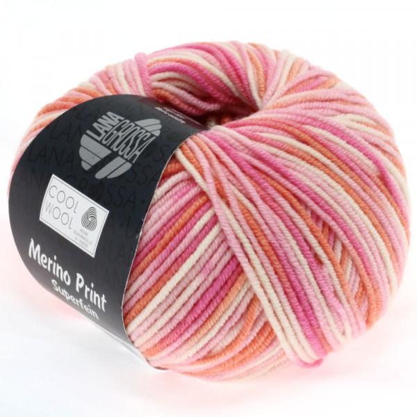 Lana Grossa Cool Wool 2000 Print 726 Rosa/Pink/Koralle/Natur 50g