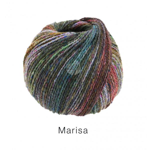 Lana Grossa Marisa 008 Grautürkis/Khaki/Terracotta/Hellgrün/Brombeer 50g