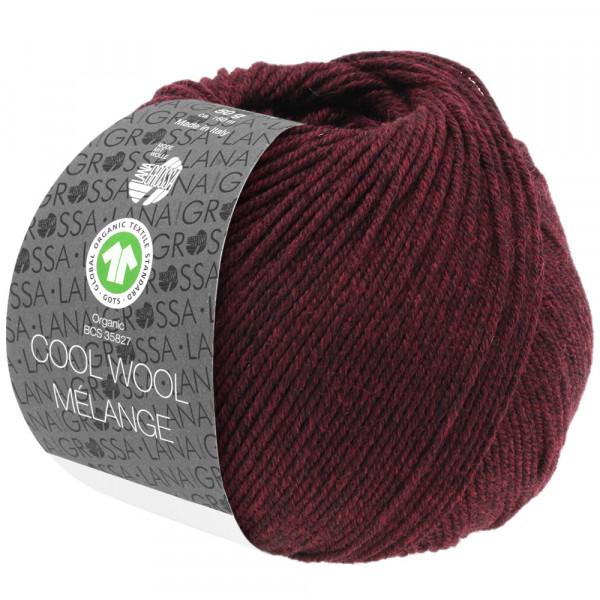 Lana Grossa Cool Wool 2000 Mélange GOTS 119 Schwarzrot Meliert 50g