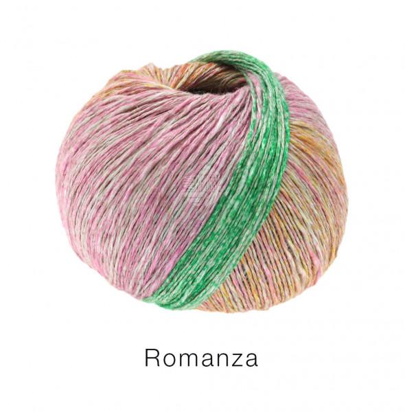 Lana Grossa Romanza 002 Pastellorange/-flieder/Jade/Türkis/Graublau/-rot 50g