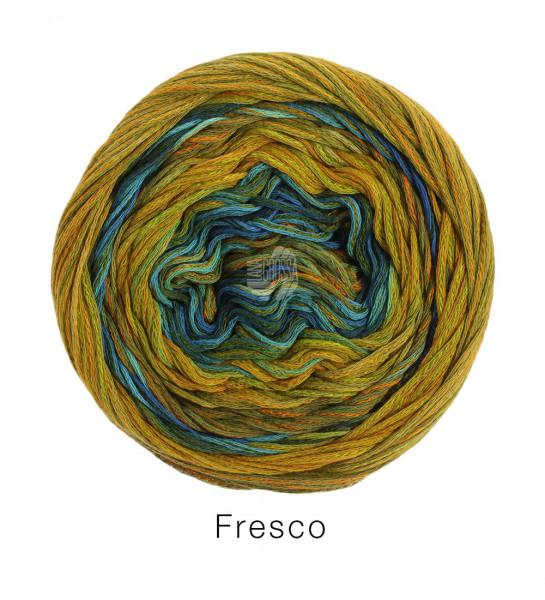 Lana Grossa Fresco 006 Gelb/Senf/Oliv/Dunkelgrün/Curry 100g