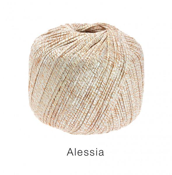 Lana Grossa Alessia 105 Kupfer/Ecru/Natur 50g