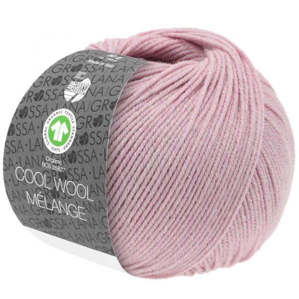 Lana Grossa Cool Wool 2000 Mélange GOTS 117 Fliederrosa Meliert 50g