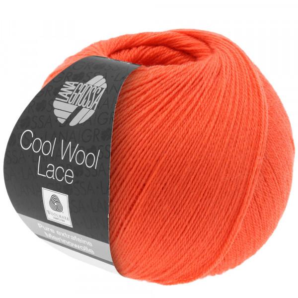Lana Grossa Cool Wool Lace 021 Lachsrot 50g