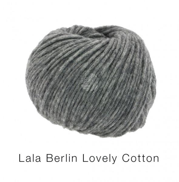 Lana Grossa Lala Berlin Lovely Cotton 019 Dunkelgrau 50g