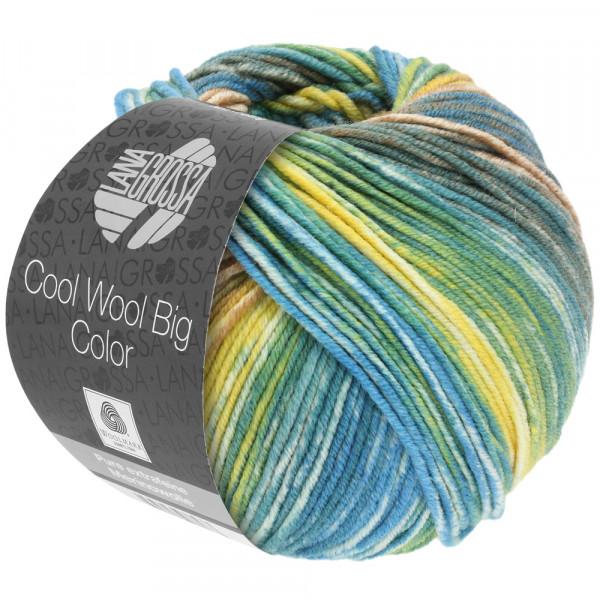Lana Grossa Cool Wool Big Color 4020 Graugrün/Camel/Gelb/Ecru/Resedagrün/Petrol 100g