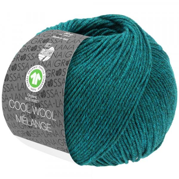 Lana Grossa Cool Wool 2000 Mélange GOTS 105 Petrol Meliert 50g