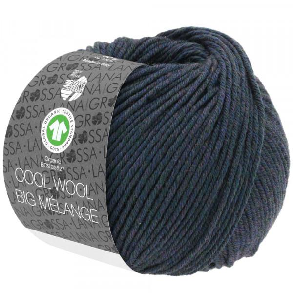 Lana Grossa Cool Wool Big Melange GOTS 204 Blaugrün Meliert 50g