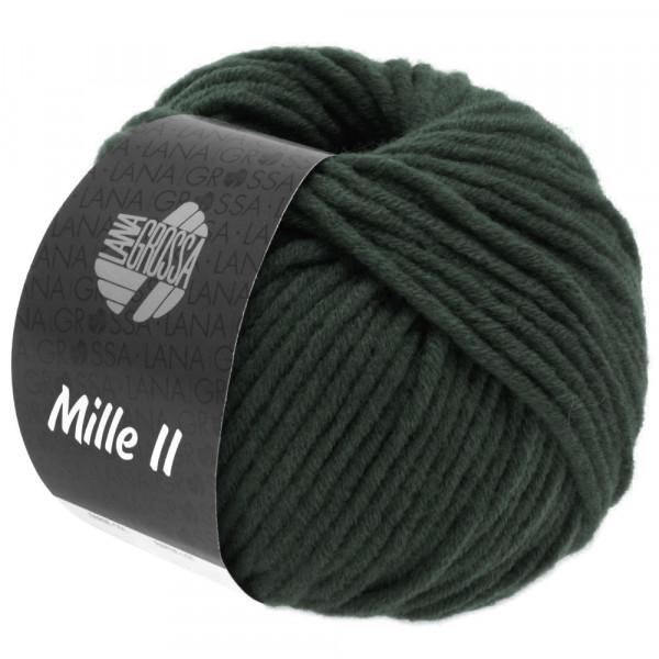 Lana Grossa Mille II 117 Schwarzgrün 50g