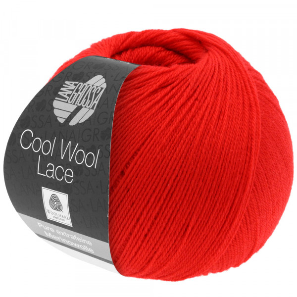 Lana Grossa Cool Wool Lace 022 Feuerrot 50g