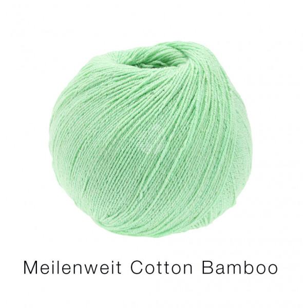 Lana Grossa Meilenweit 100 Cotton Bamboo Uni 004 Lindgrün 100g