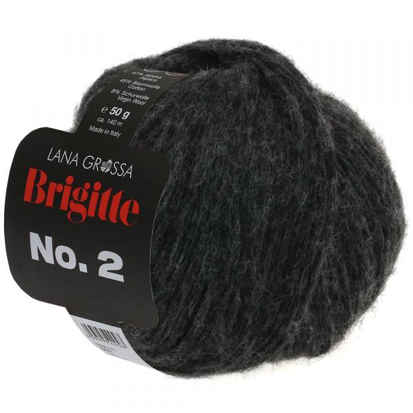 Lana Grossa Brigitte No.2 014 Anthrazit 50g