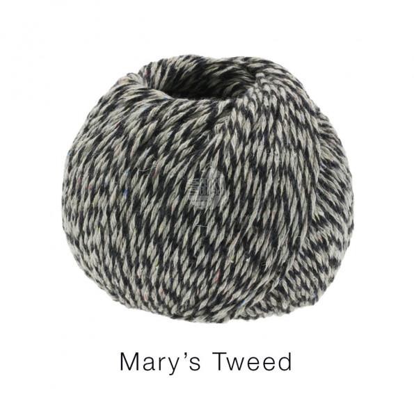 Lana Grossa Mary's Tweed 015 Anthrazit/Hellgrau meliert 50g