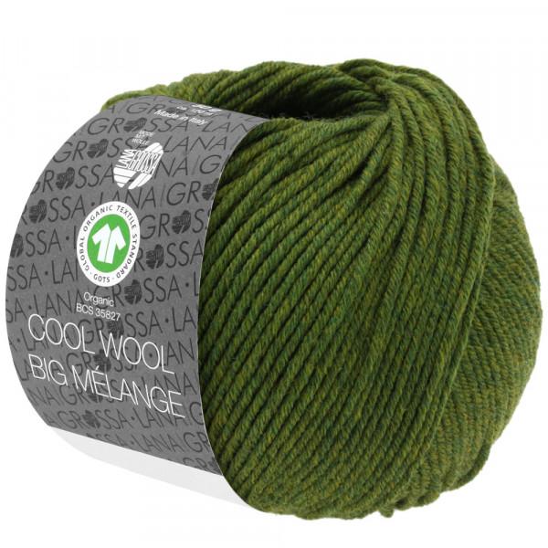Lana Grossa Cool Wool Big Mélange GOTS 213 Oliv Meliert 50g
