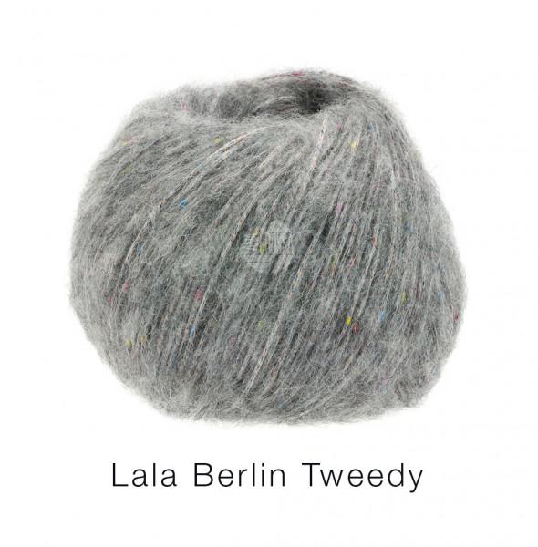 Lana Grossa lala Berlin Tweedy 005 Grau 50g