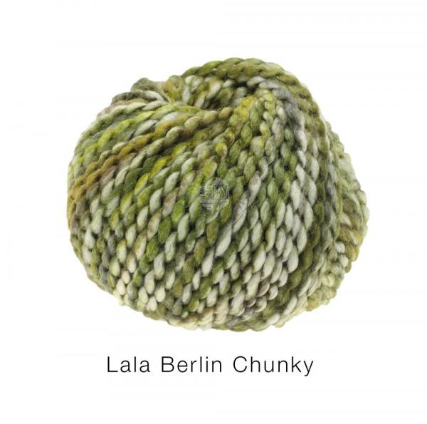 Lana Grossa lala BERLIN CHUNKY 0104 Hell-/Dunkeloliv/Gelbgrün/Rohweiß 50g