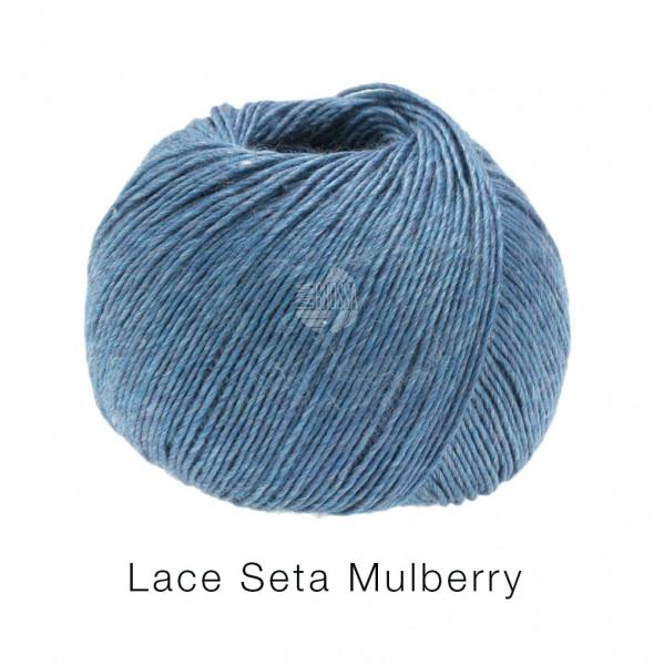 Lana Grossa Lace Seta Mulberry 017 Jeans 50g