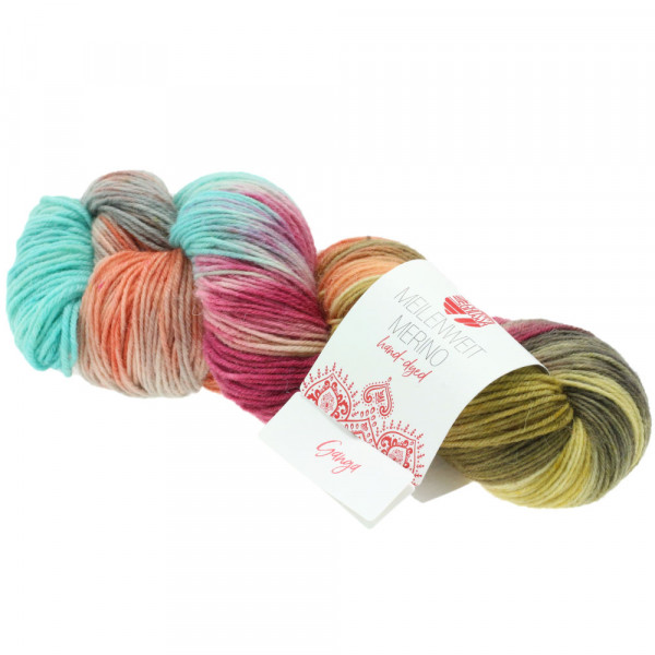 Lana Grossa Meilenweit 100 Merino Hand-Dyed 407 Ganga 100g