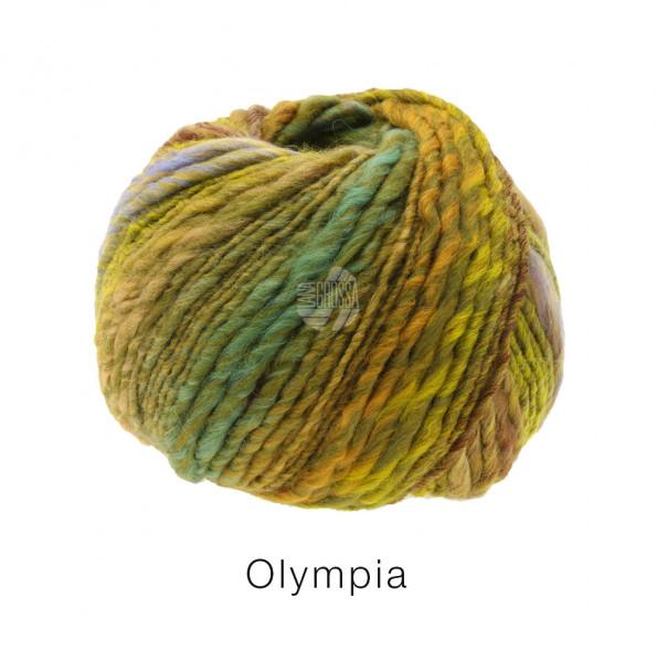 Lana Grossa OLYMPIA - Brombeer/Mauve/Kiwi/Limette/Hellpetrol/Orange