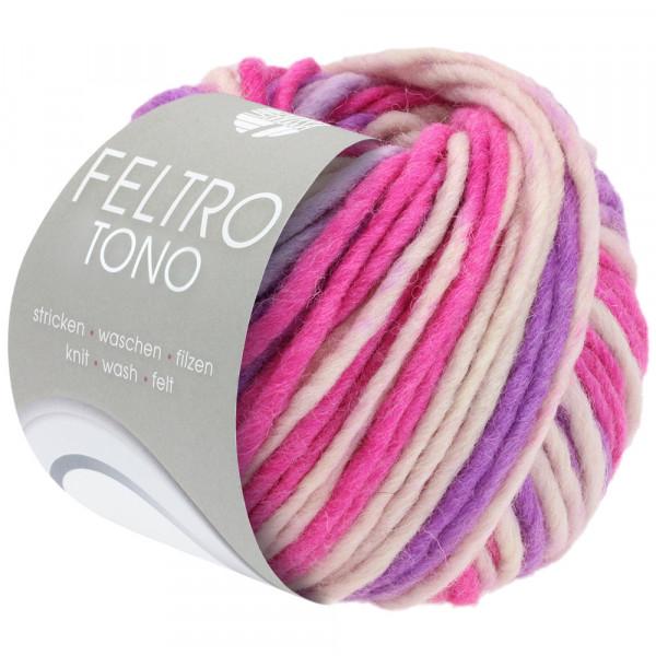 Lana Grossa Feltro Tono 1053 Rosa/Pink/Violett/Graulila 50g