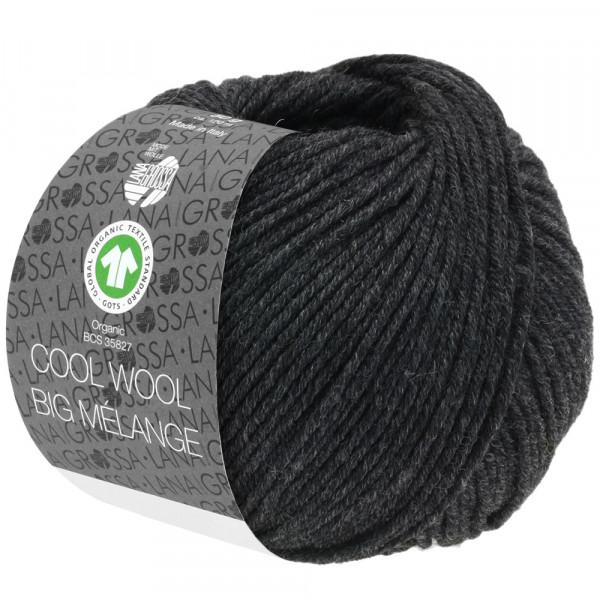Lana Grossa Cool Wool Big Mélange GOTS 220 Anthrazit Meliert 50g