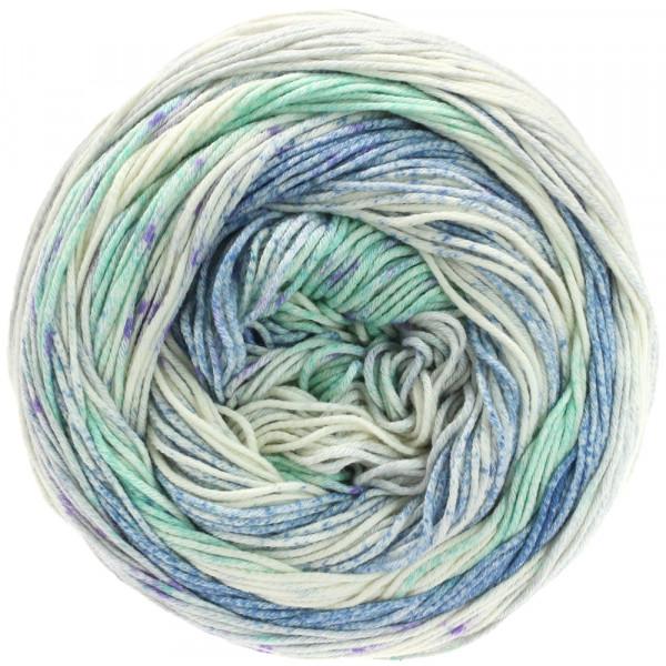 Lana Grossa Aruba 008 Türkis/Jeans/Natur/Flieder 100g