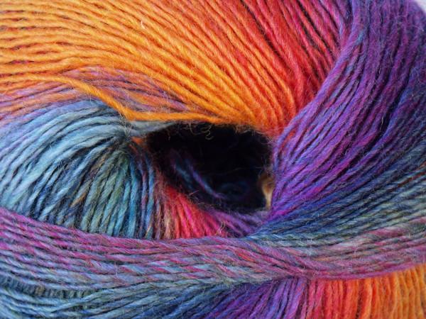 Lang Yarns Mille Colori Baby 154 bunt Gelb/Violett/Grün 50g