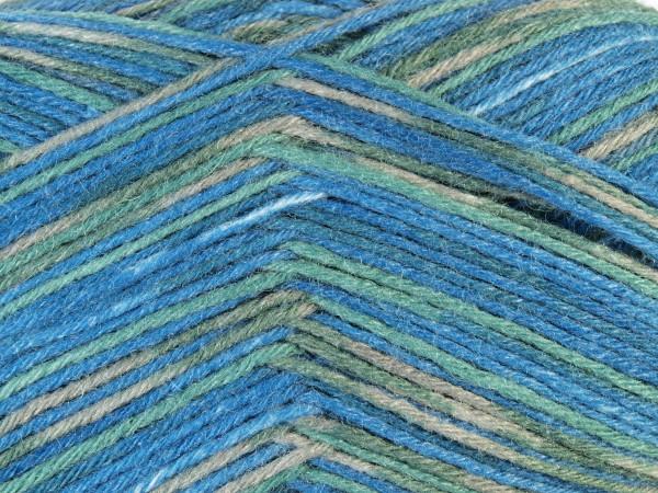 Lana Grossa Meilenweit 6-fach 150 Milano 9472 Blau/Grün/Graubraun 150g