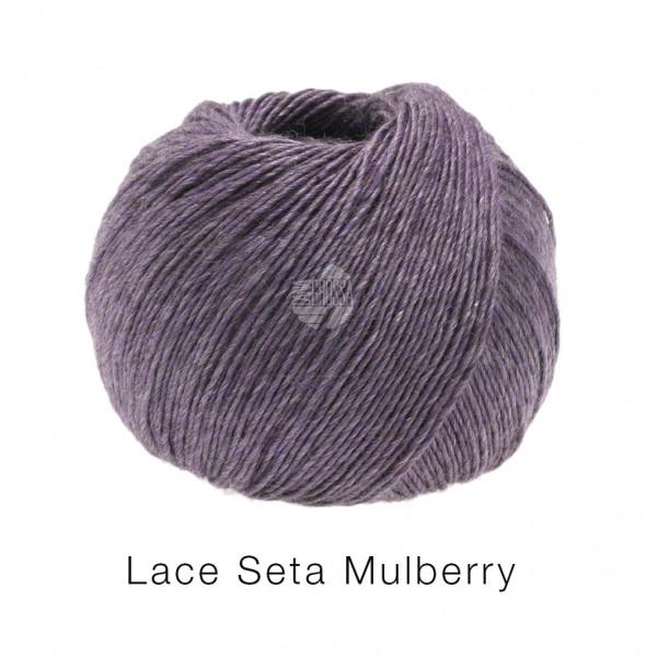 Lana Grossa Lace Seta Mulberry 005 Pflaume 50g