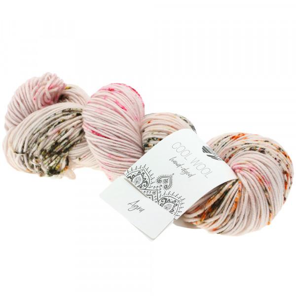 Lana Grossa Cool Wool hand-dyed 102 Rohweiß/Fuchsia/Orange/Schwarz 100g