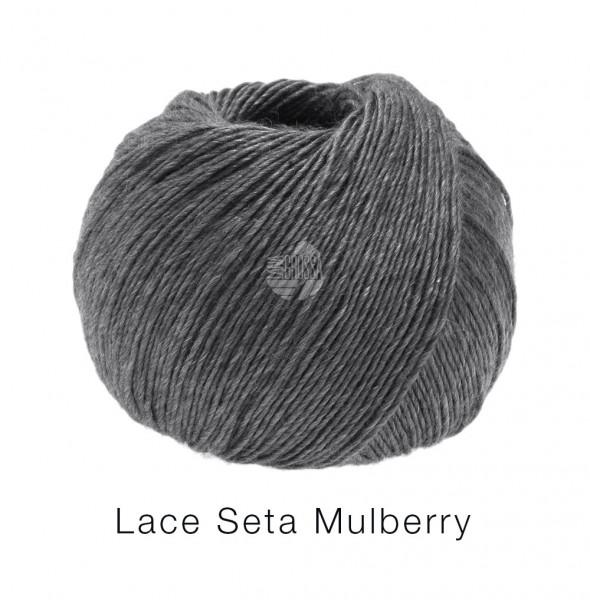 Lana Grossa Lace Seta Mulberry 015 Dunkelgrau 50g