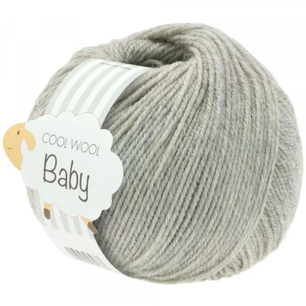 Lana Grossa Cool Wool Baby 206 Hellgrau meliert 50g
