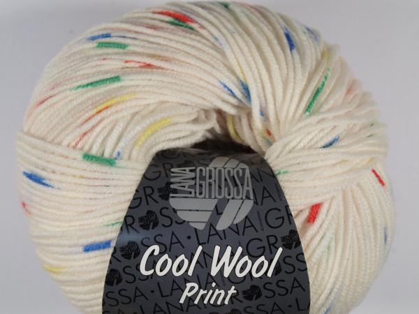 Lana Grossa Cool Wool 2000 Print Punto - Weiß/Rot/Grün/Blau/Gelb