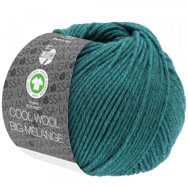 Lana Grossa Cool Wool Big Melange GOTS 205 Petrol 50g