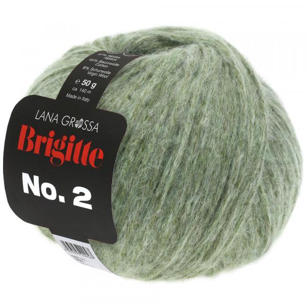 Lana Grossa Brigitte No.2 018 Graugrün 50g