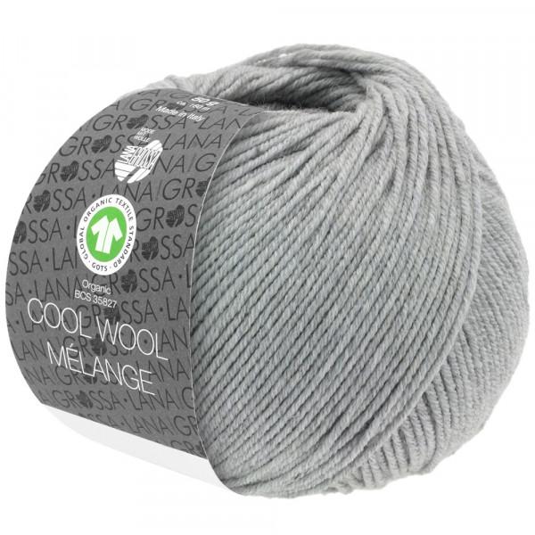 Lana Grossa Cool Wool 2000 Mélange GOTS 122 Hellgrau Meliert 50g
