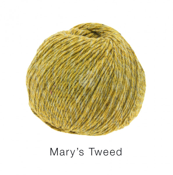 Lana Grossa Mary's Tweed 008 Senf meliert 50g