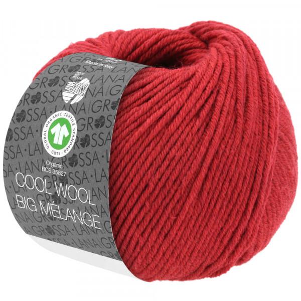 Lana Grossa Cool Wool Big Mélange GOTS 215 Rot 50g