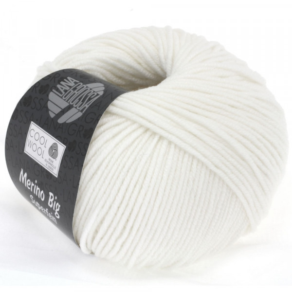Lana Grossa Cool Wool Big 615 Weiß 50g