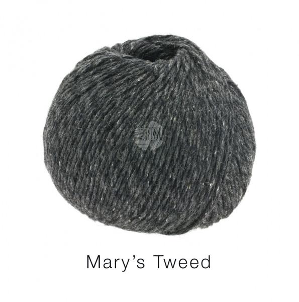 Lana Grossa Mary's Tweed 014 Dunkelgrau 50g