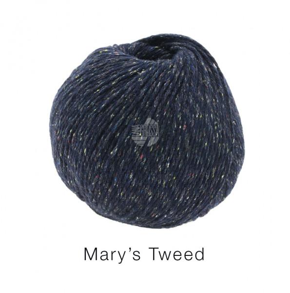 Lana Grossa Mary's Tweed 011 Nachtblau meliert 50g