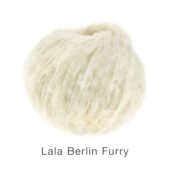 Lana Grossa lala BERLIN FURRY 0001 Rohweiß 50g