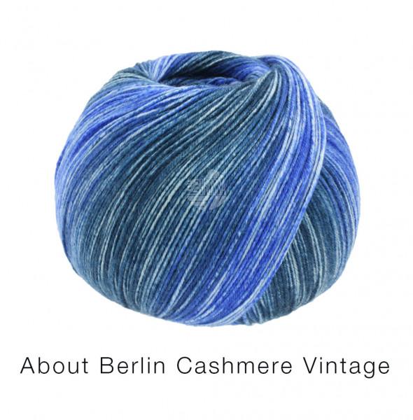 Lana Grossa About Berlin Meilenweit 100 Cashmere Vintage 824 Blautöne 100g
