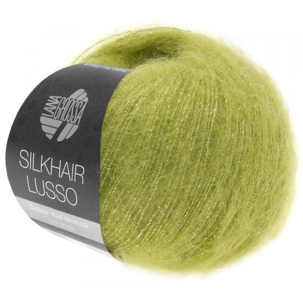 Lana Grossa Silkhair Lusso 921 Moosgrün/Silber 25g
