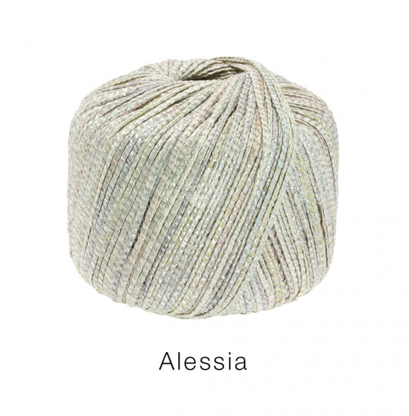 Lana Grossa Alessia 006 Silber/Graugrün/Ecru 50g