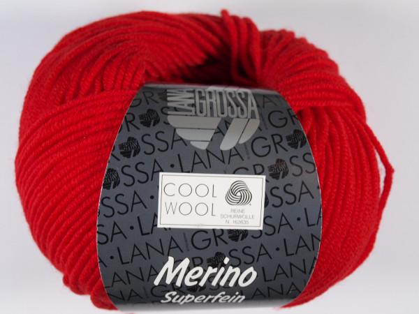 Lana Grossa Cool Wool 2000 417 Leuchtendrot 50g