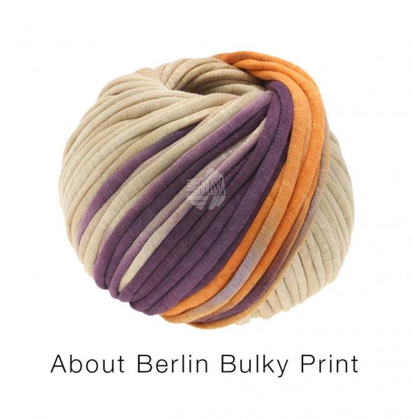Lana Grossa About Berlin Bulky Print 102 Violett/Beige/Apricot/Antikviolett 50g