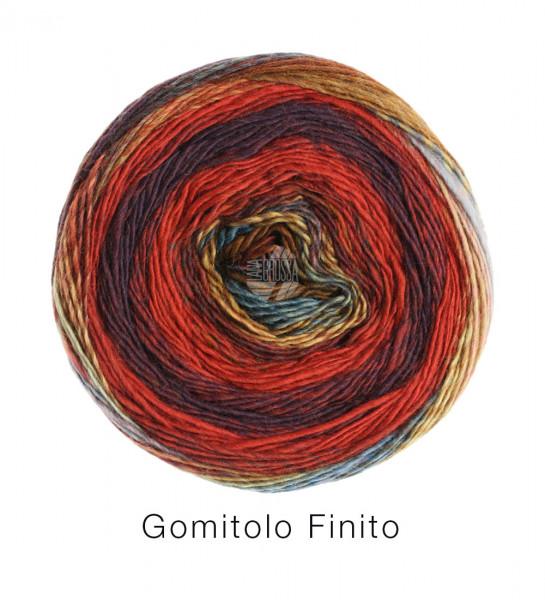Lana Grossa Gomitolo Finito 559 Rot/Aubergine/Senf/Petrol 200g